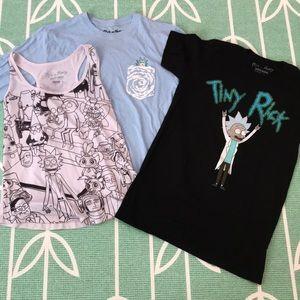 Rick and Morty shirt set